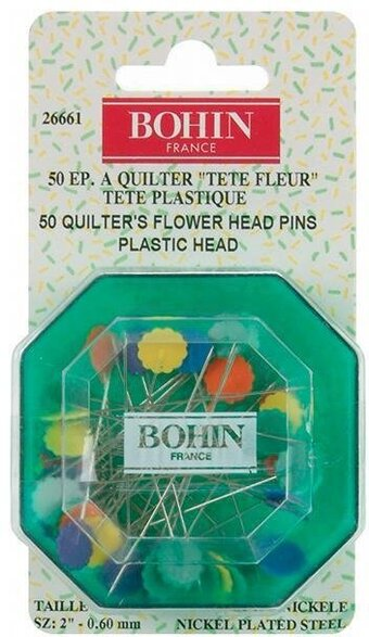 Quilter's Flower Head Pins Assorted Colors