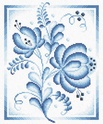 Blue Roses - Cross Stitch Kit