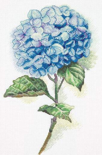 Blue Hydrangea - Cross Stitch Kit