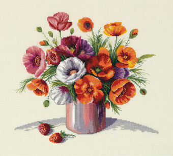 Golden Series Morning Poppies - Cross Stitch Kit