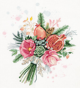 Bouquet and Pomegranates - Cross Stitch Kit