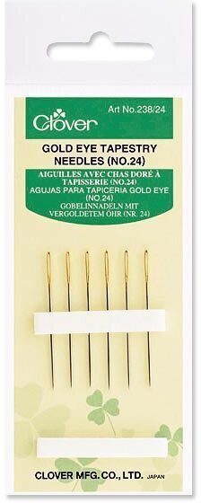 Clover Gold Eye Tapestry Needles Size 24