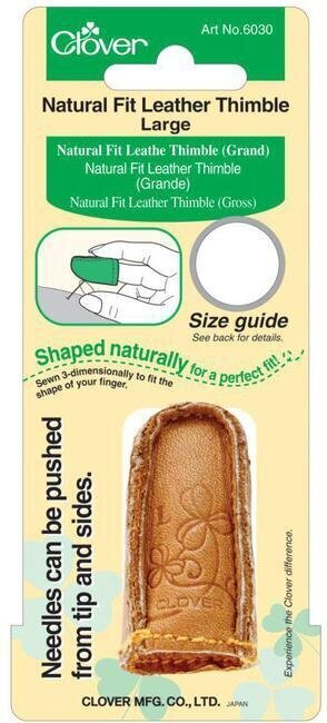 Natural Fit Leather Thimble - Large