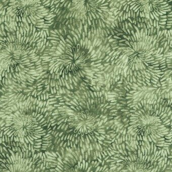 100% Cotton Fabric Half Yard - Fern Tonal
