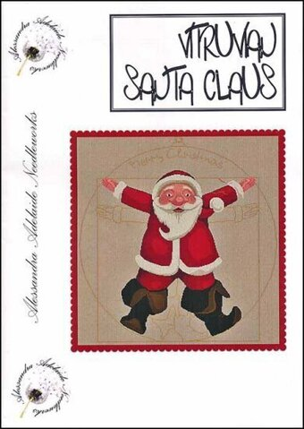 Vitruvian Santa Claus  - Cross Stitch Pattern