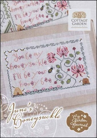 June's Honeysuckle - My Garden Journal - Cross Stitch