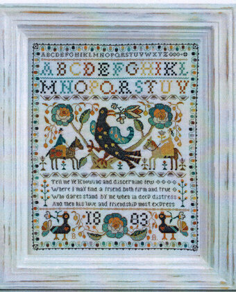 Portuguese Bird Sampler - Cross Stitch Pattern