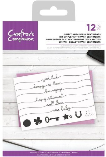 Simply Said Swash Sentiments - Clear Stamp