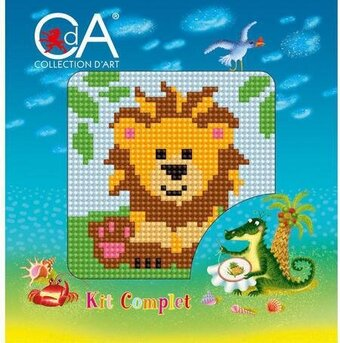 Lion - Stamped Needlepoint Kit