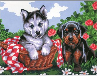 Puppy - Stamped Needlepoint Kit
