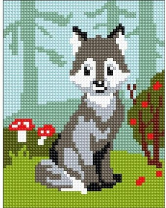 Wolf Cub - Stamped Needlepoint Kit