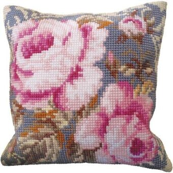 Rose Ancienne - Stamped Needlepoint Cushion Kit