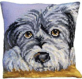 Fidele Dog - Stamped Needlepoint Cushion Kit