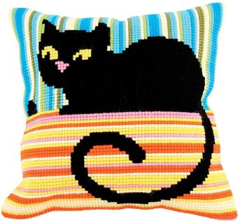Ms. Cool - Stamped Needlepoint Cushion Kit