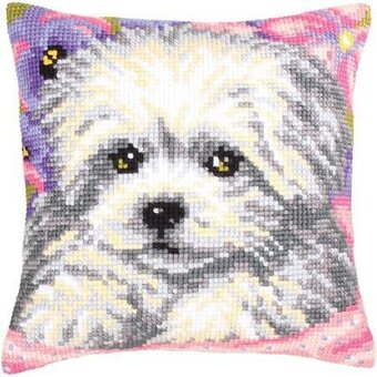 Little Doggy - Stamped Needlepoint Cushion Kit