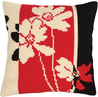 Red And Black II - Stamped Needlepoint Cushion Kit