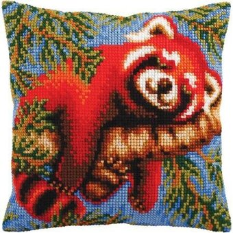 Red Panda - Stamped Needlepoint Cushion Kit