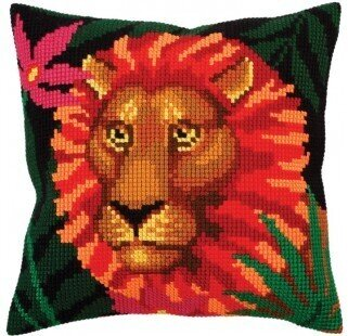 Night Jungle II - Stamped Needlepoint Cushion Kit