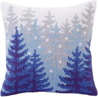 Winter Forest - Stamped Needlepoint Cushion Kit