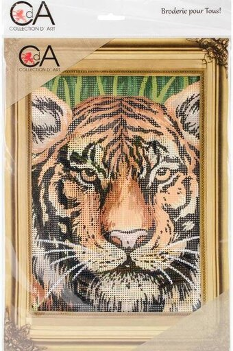 Tiger - Stamped Needlepoint Kit