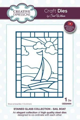 Sue Wilson Dies - Stained Glass Collection Sail Boat