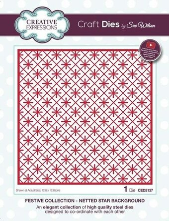 Sue Wilson Christmas Dies - Netted Star Background