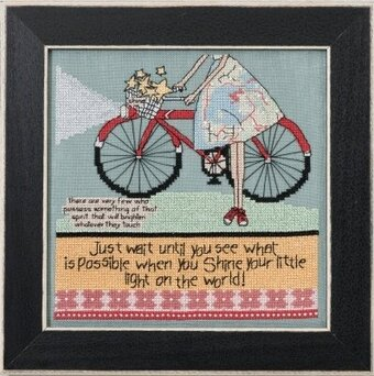 Let Your Light Shine Curly Girl Design - Beaded Cross Stitch