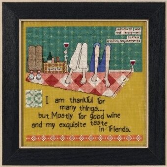 Taste in Friends (Curly Girl Design) - Cross Stitch Kit