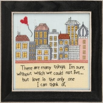 Love is the Only One - Curly Girl - Beaded Cross Stitch Kit