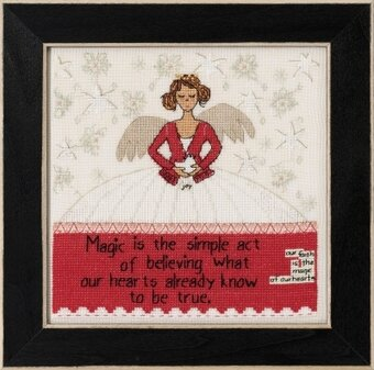 Simple Act (Curly Girl Design) - Beaded Cross Stitch Kit