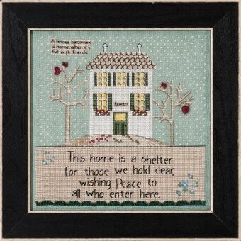 Home is a Shelter (Curly Girl Design) - Beaded Cross Stitch