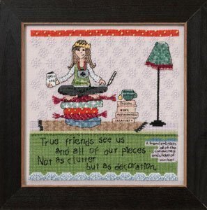 Clutter (Curly Girl Design) - Beaded Cross Stitch Kit