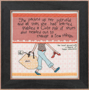 Packed Up Her Potential - Beaded Cross Stitch Kit
