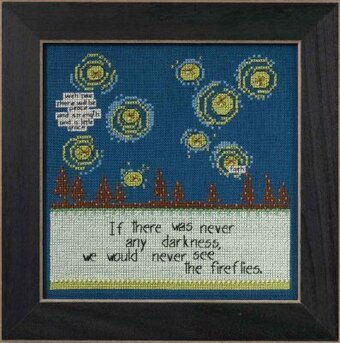 Fireflies (Curly Girl Design) - Beaded Cross Stitch Kit