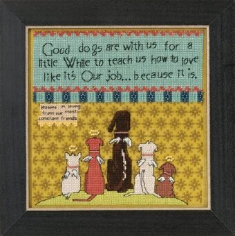 Good Dogs (Curly Girl Design) - Beaded Cross Stitch Kit