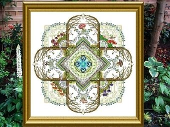Mushroom & Fern Mandala, The - Cross Stitch Pattern