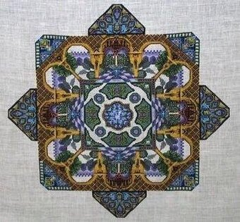 Alhambra Garden - Cross Stitch Pattern