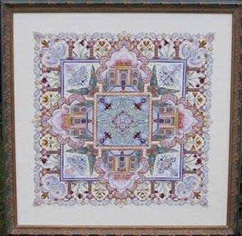 Taj Mahal Mandala Garden - Cross Stitch Pattern