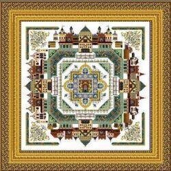 Medieval Town Mandala, The - Cross Stitch Pattern