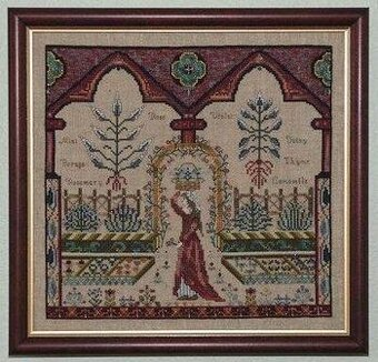 Medieval Herb Garden, The - Cross Stitch Pattern