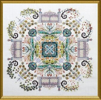 Autumn Watergarden Mandala - Cross Stitch Pattern