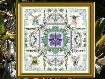 Fairy Flower Garden Mandala, The - Cross Stitch Pattern
