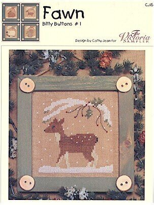 Bitty Buttons Fawn - Cross Stitch Pattern