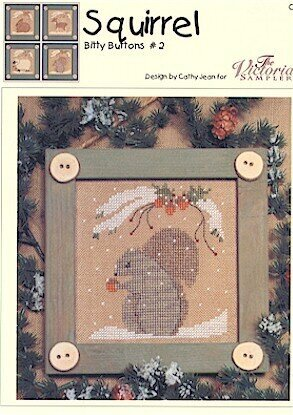 Bitty Buttons Squirrel - Cross Stitch Pattern