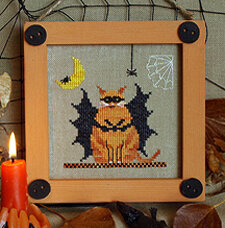 Fat Bat Cat: Halloween Bitty Buttons 2  - Stitch Pattern