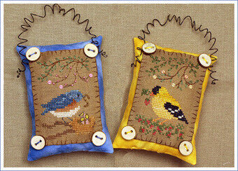 Button Up Birdies #4 - Cross Stitch Pattern