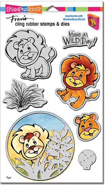 Lion - Cling Stamp and Die Set