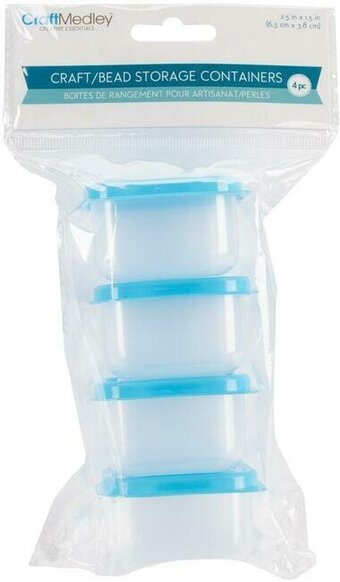 Bead Storage Containers With Lids 4 Per Pack