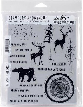 Tim Holtz Cling Mount Christmas Stamps - Great Outdoors