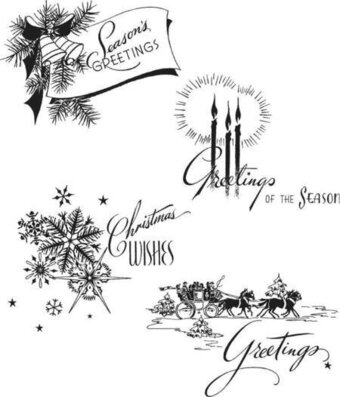 Holiday Greetings - Tim Holtz Christmas Cling Stamp